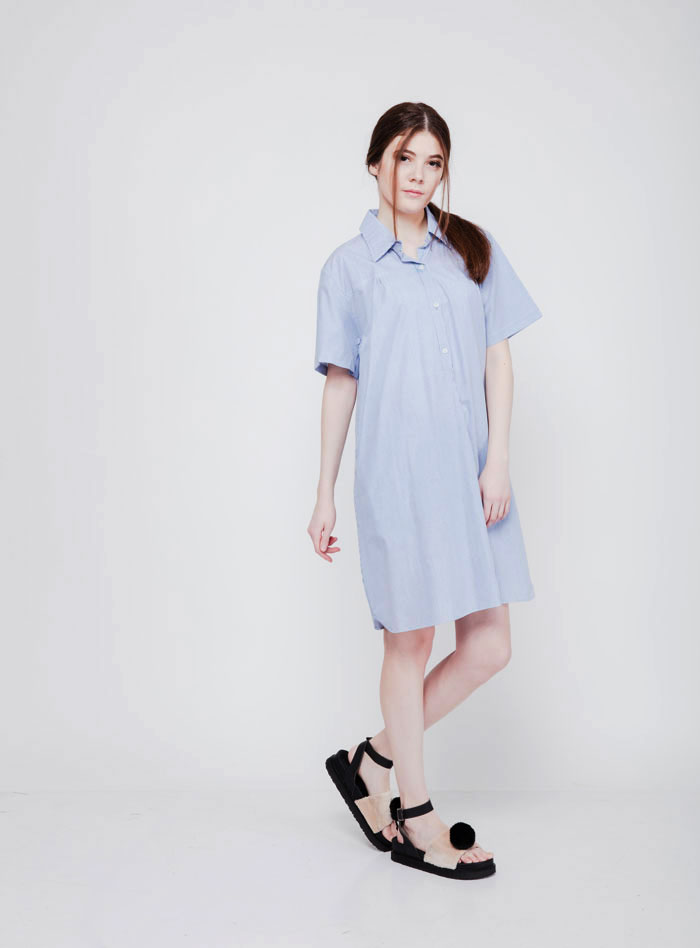 Jual Alice Soft Stripes Dress Casual Untuk Berjalan-Jalan