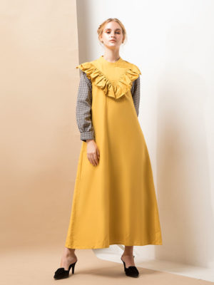 1_2_Plumette-Yellow-Dress-with-Ruffles